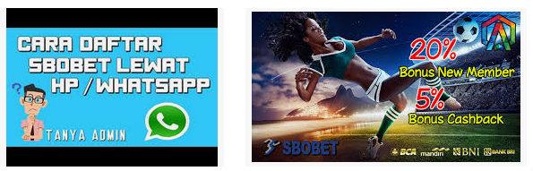 Daftar akun sbobet melalui aplikasi dan whatsapp